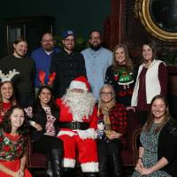 Group photo with Santa